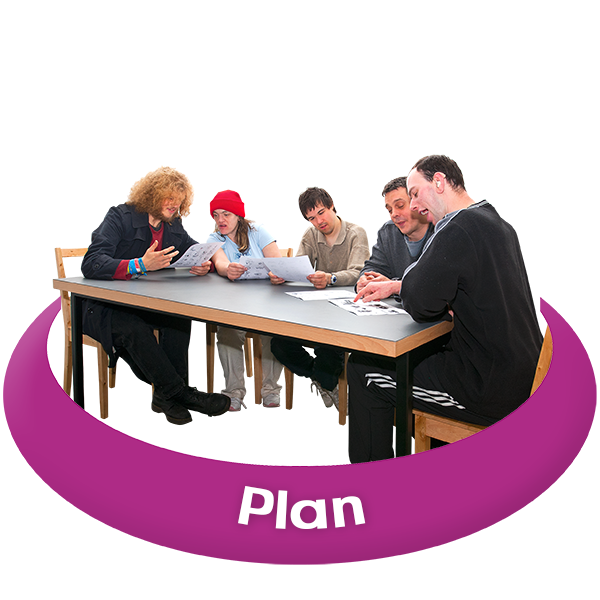 Group of people making a plan