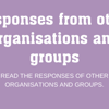 HRA Reviews: Responses from other organisations
