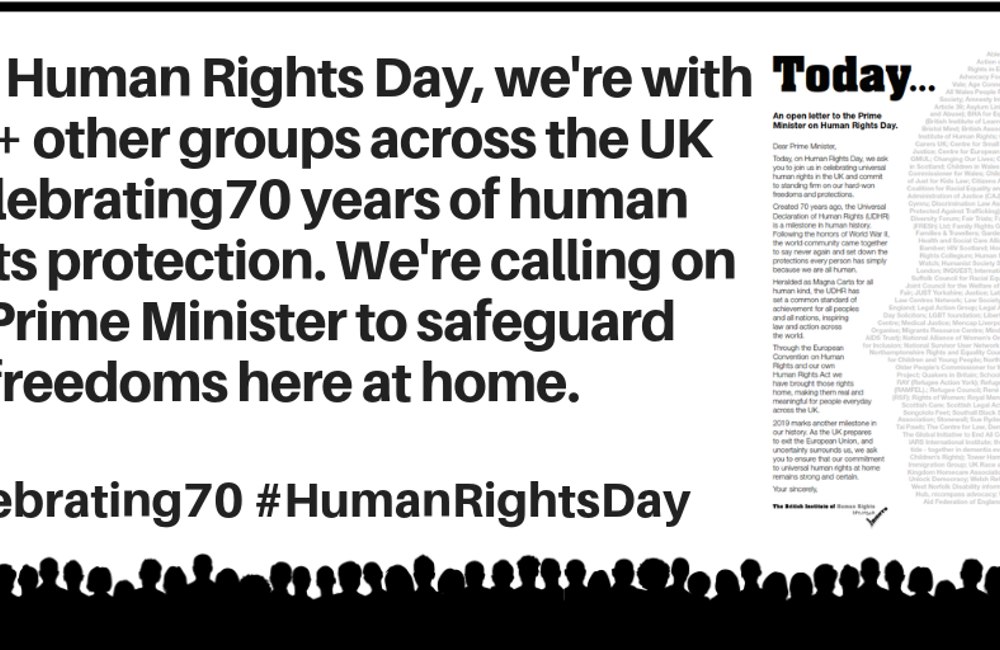 As parliament votes on the Brexit Withdrawal Deal, 155 groups urge the Prime Minister to safeguard human rights home