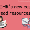 Exciting news: new easy read resources published!