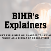 Human Rights & Coronavirus Hub: Changes to Law and Policy